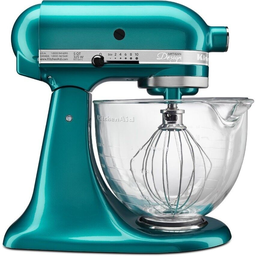 new kitchenaid cristal marino green tilt stand mixer 5 qt glass bowl ksm155gbsa 50946877020 ebay. Black Bedroom Furniture Sets. Home Design Ideas