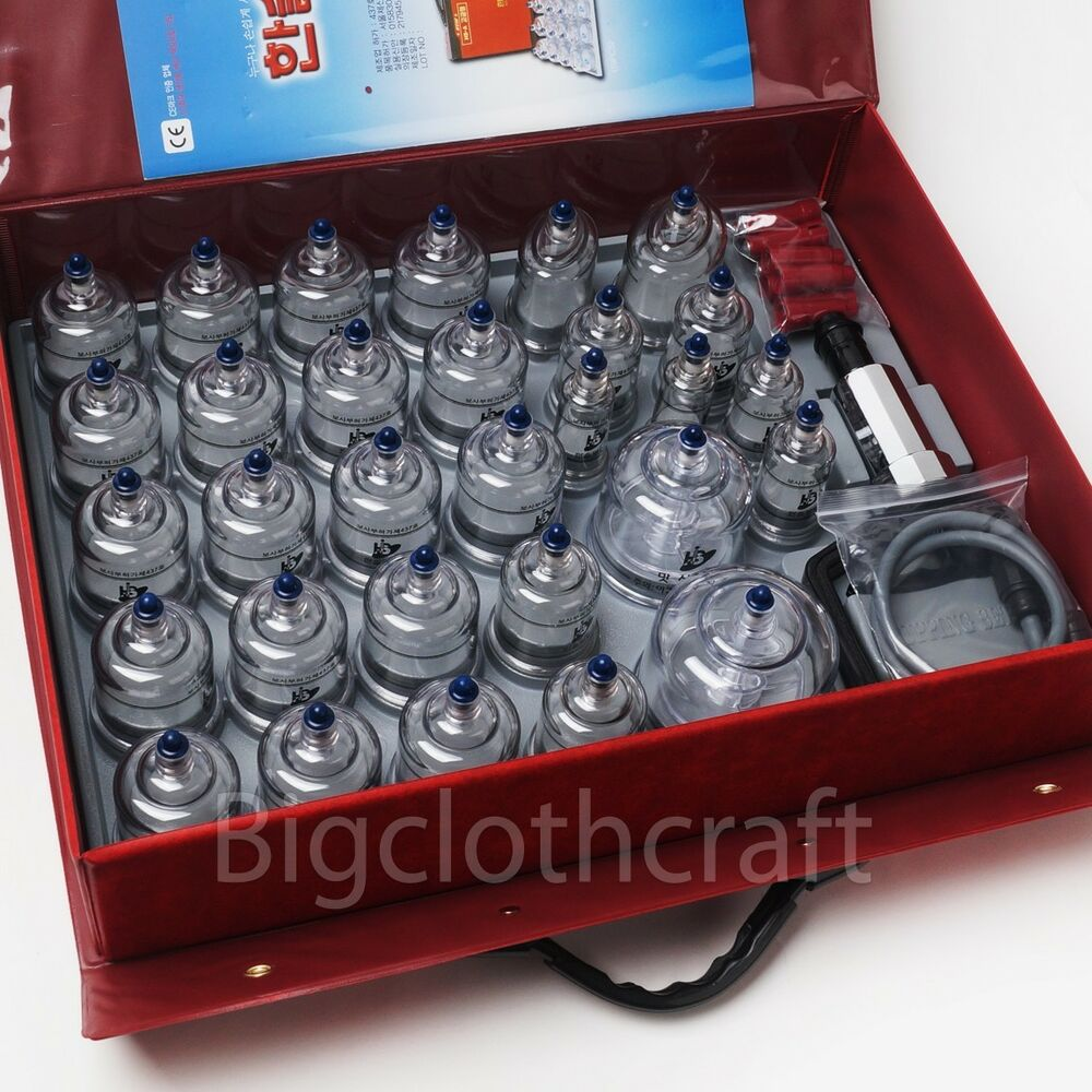What Does Suction Cupping Your Back Do: New Hansol Bu-Hang Massage Professional Cupping Set 30PCS
