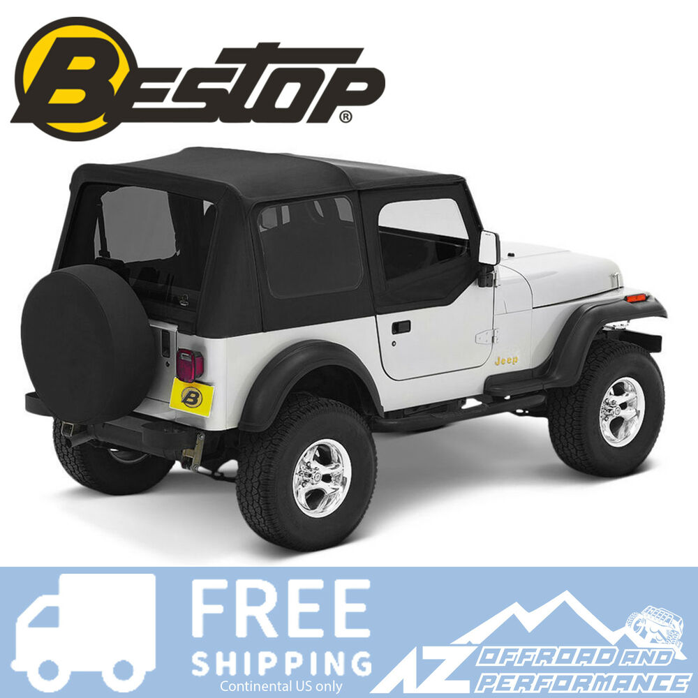 Jeep Yj Soft Top Replacement Bow Kit 88 95 Jeep Wrangler: Bestop Replace A Top 88-95 Jeep Wrangler YJ Clear Half