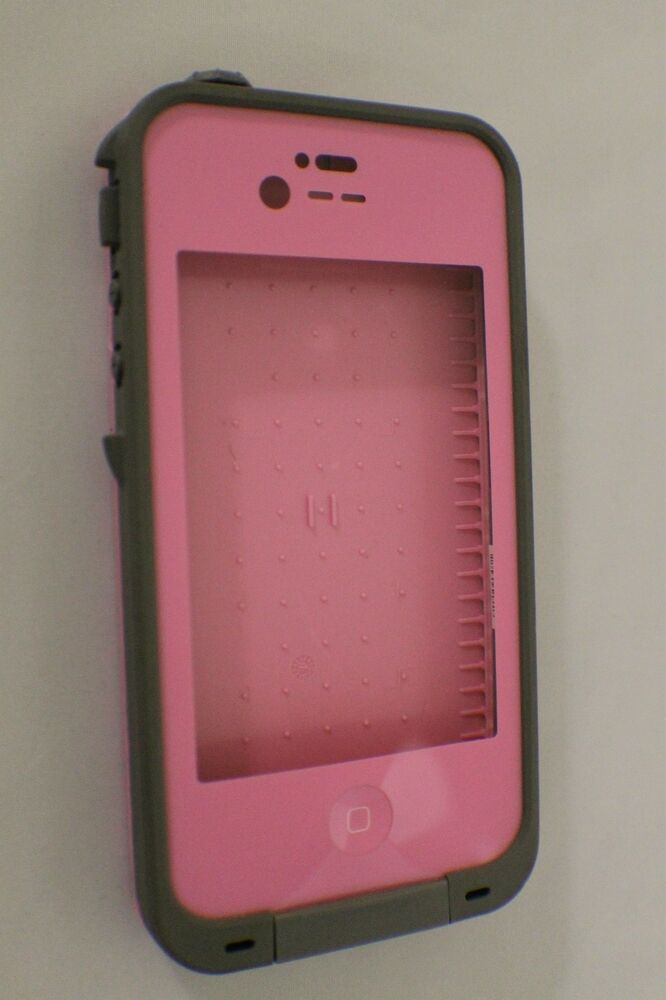 pink iphone 4 case genuine lifeproof for apple iphone 4 4s pink gray 6665