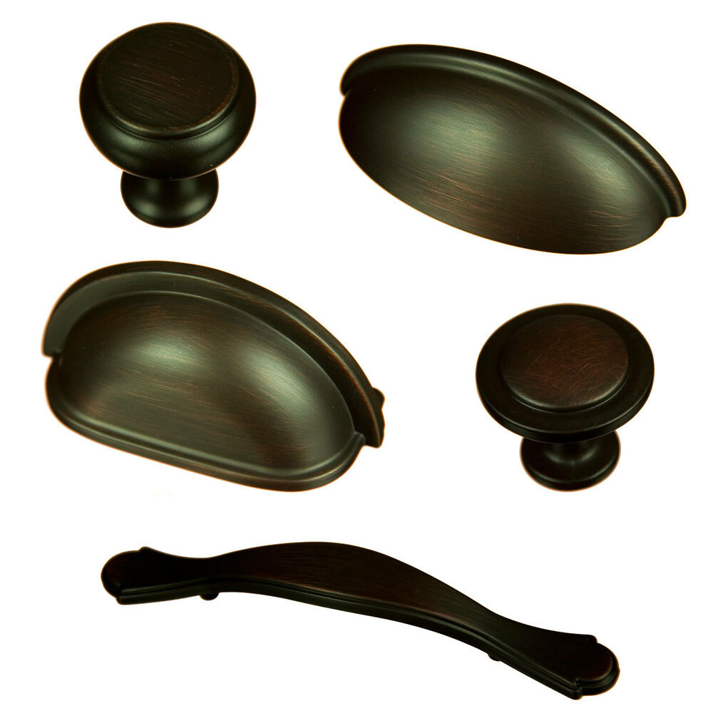 Cavalier Oil Rubbed Bronze Cabinet Hardware Knobs Bin Cup