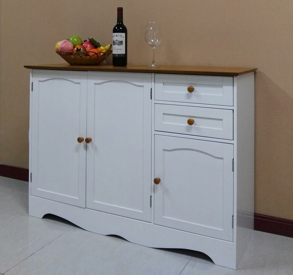 White Kitchen Buffet: Free Postage Buffet Sideboard Hall Table Kitchen Cupboard