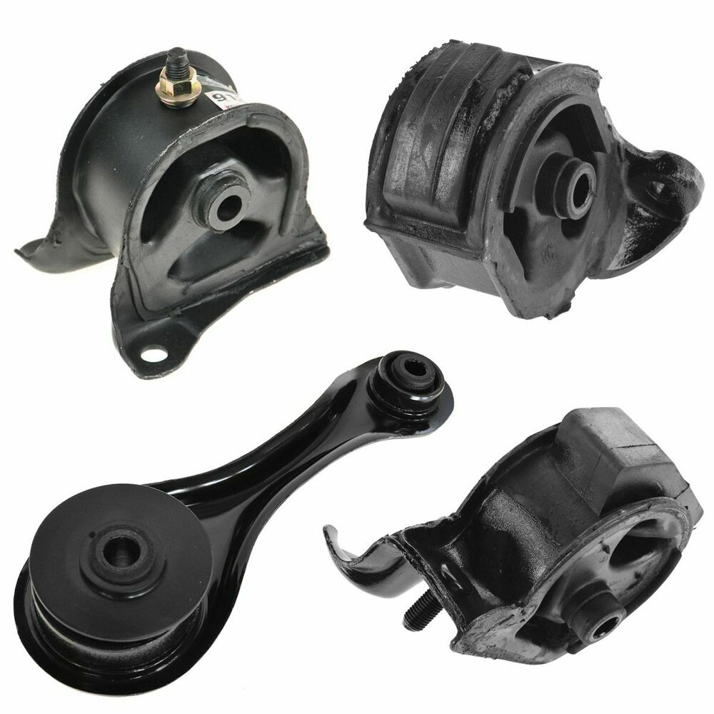 Engine motor mount kit set of 4 for 90 93 accord with mt for New motor and transmission