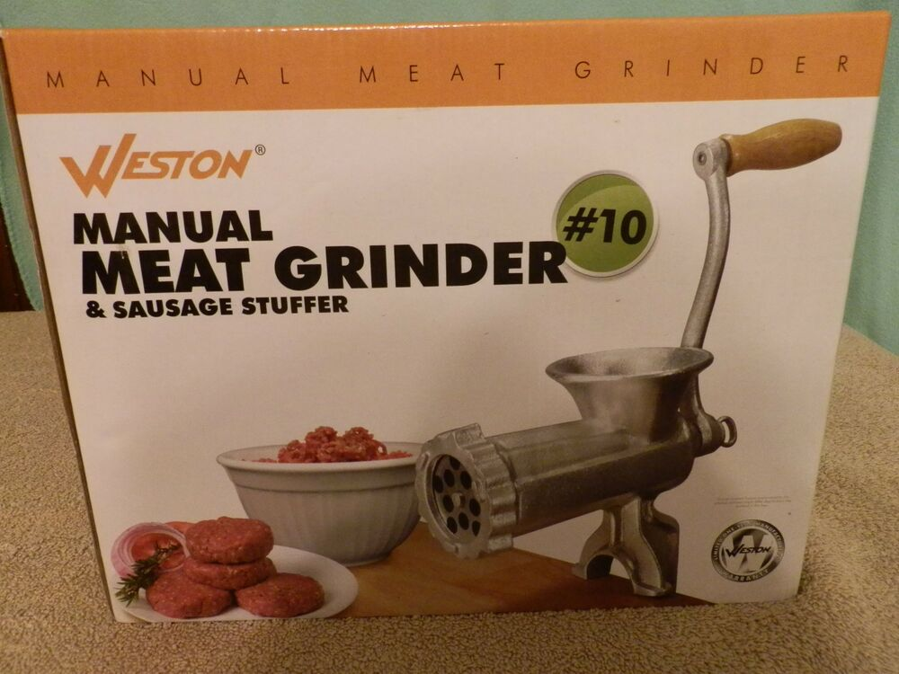 manual meat grinder and sausage stuffer