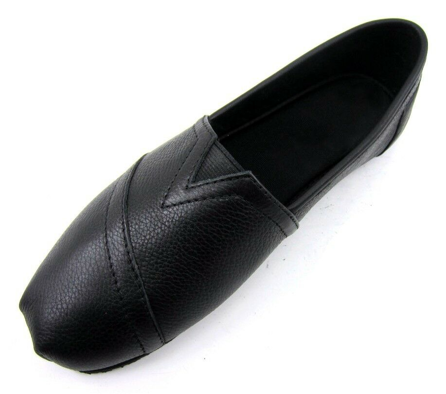 womens non slip resistant work leather shoe black