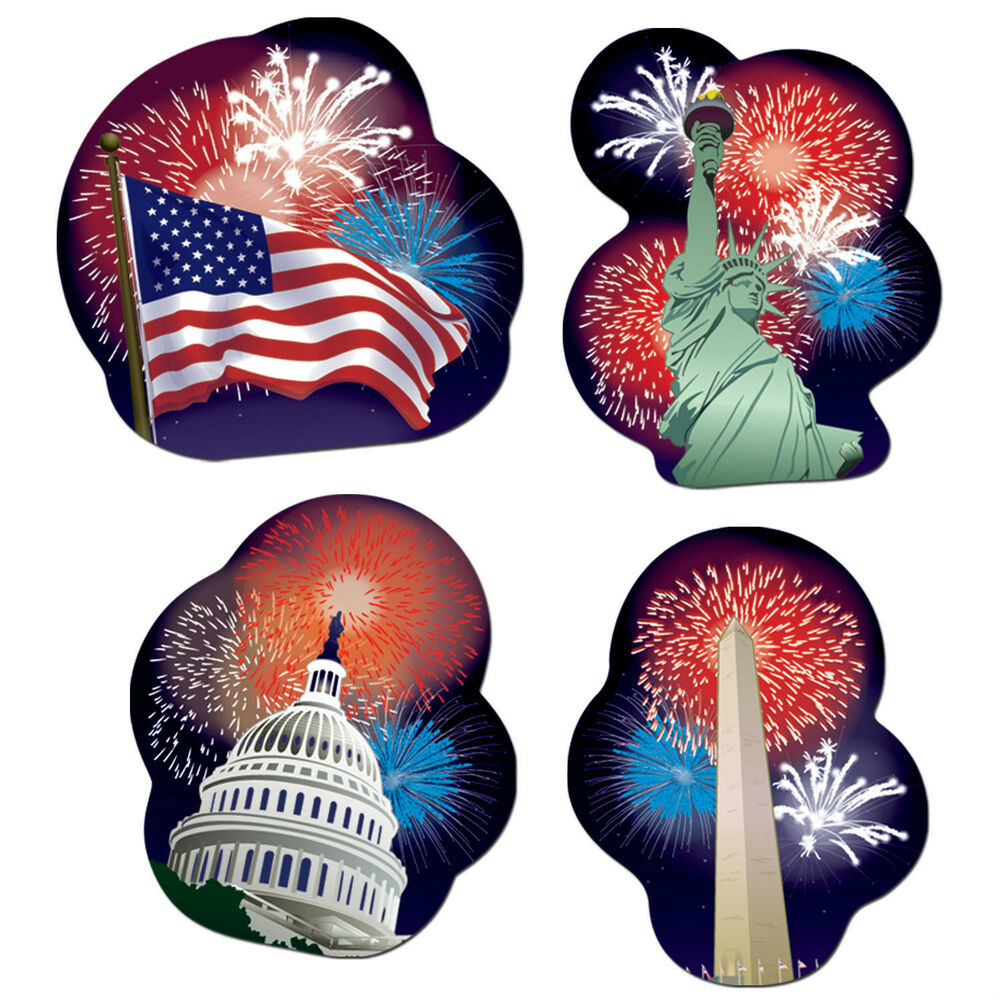 4 4th of july memorial day patriotic party decoration for Decoration 4 july