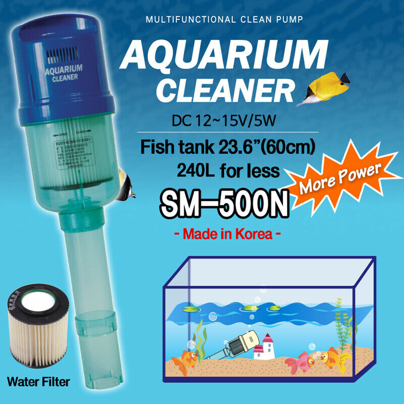 New aquarium fish tank cleaner electric motor vacuum for Fish tank cleaning kit