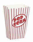 8 - Popcorn Loot Treat Boxes Pop Corn Red White Paper Birthday Party Tableware