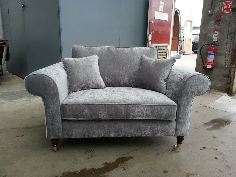 bespoke 2 seater sofa settee silver grey velvet various On grey settee