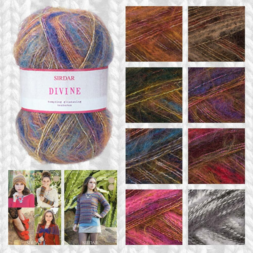 Best Knitting Stitches For Multicolor Yarn : SIRDAR DIVINE DK MULTI-TEXTURED BRUSHED KNITTING YARN - FREE KNITTING PATTERN...