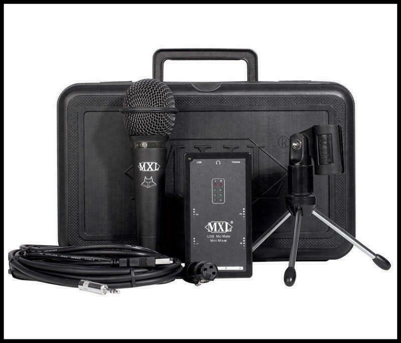 mxl mic mate mini mixer usb audio interface microphone podcast recording kit ebay. Black Bedroom Furniture Sets. Home Design Ideas