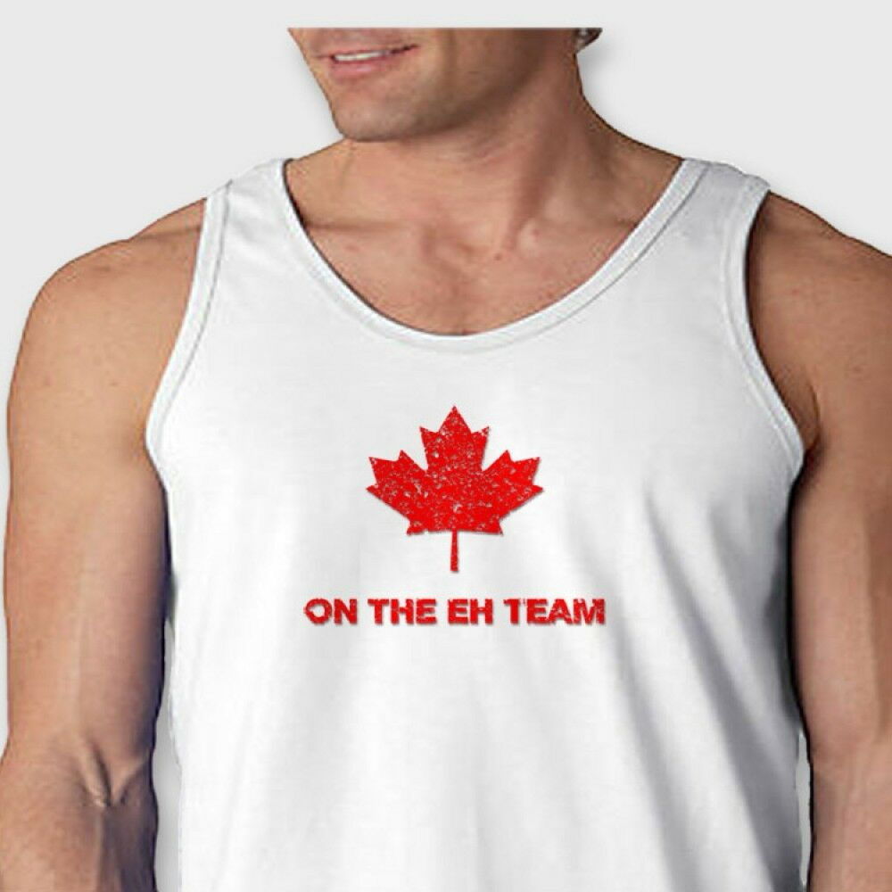 The eh team funny canadian hockey t shirt jersey maple for Best hockey t shirts