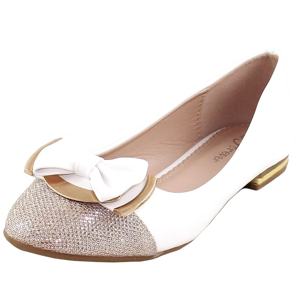 new s shoes rhinestones ballet flats blink bow