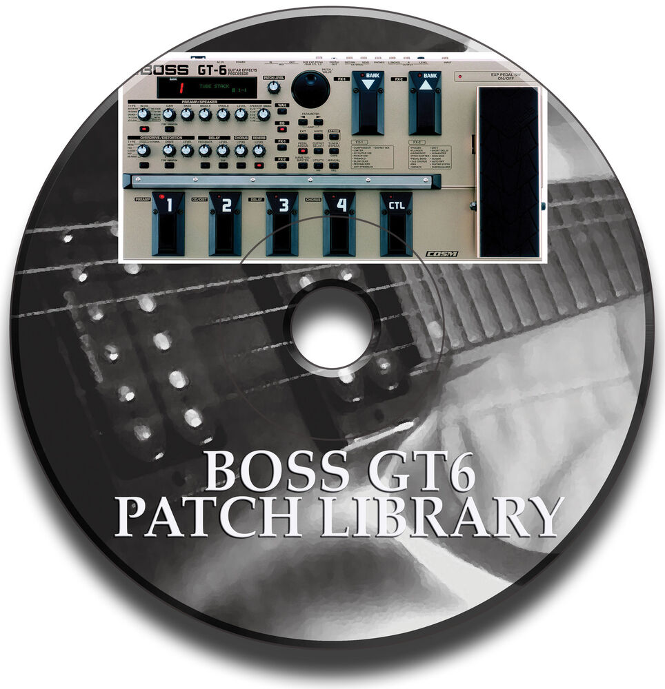 boss gt 6 pre programmed tone patch library guitar effects pedal cd ebay. Black Bedroom Furniture Sets. Home Design Ideas