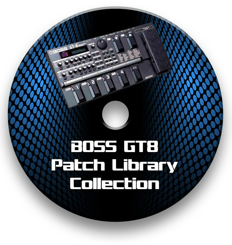 boss gt 8 biggest exclusive tone patch library guitar effects pedals cd ebay. Black Bedroom Furniture Sets. Home Design Ideas