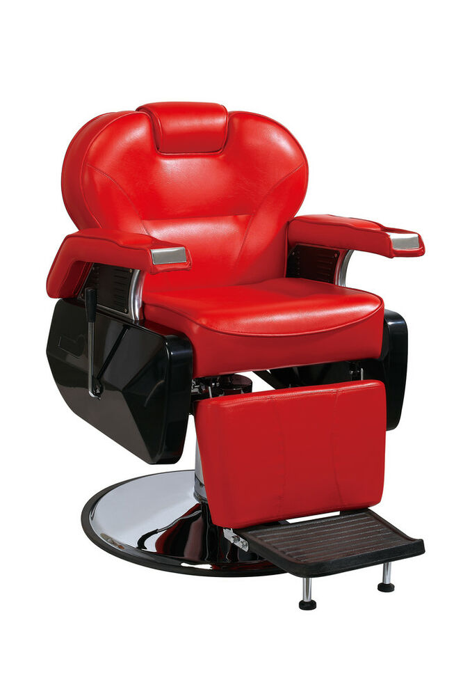 Hydraulic Barber Chair : All purpose hydraulic recline barber chair salon spa red