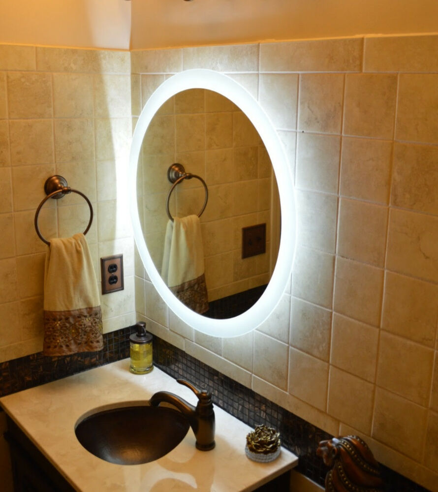 Lighted vanity mirrors make up wall mounted 28 round - Bathroom vanity mirror side lights ...
