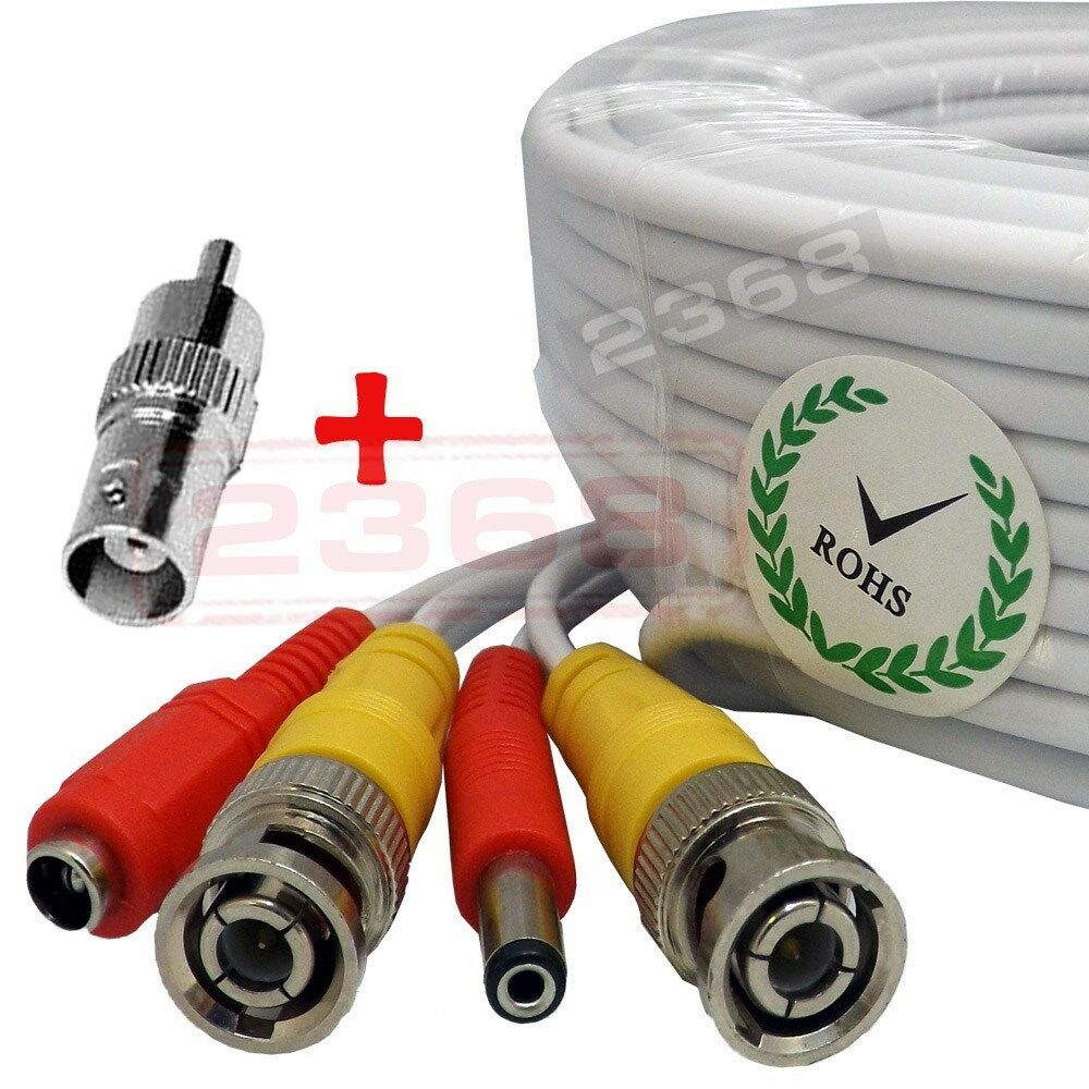 150 Feet Video Power Bnc Rca Cable For Night Owl Cctv