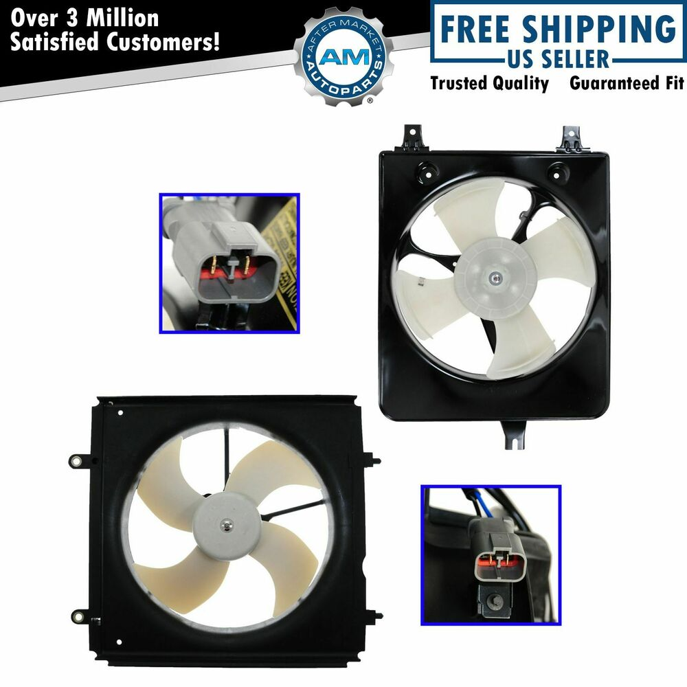 02 Cool Fan : Radiator ac condenser cooling fan assembly pair for