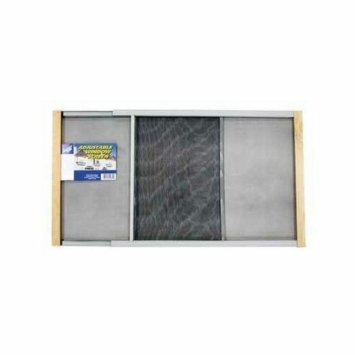 Window screen adjustable wood mesh frame window insect for Window mesh screen