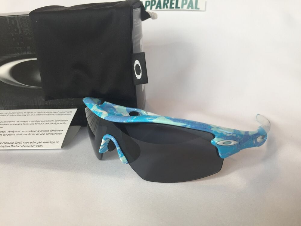 oakley sunglasses usa  new oakley radar pitch sunglasses blue night camo/gray shield 42 480 made in