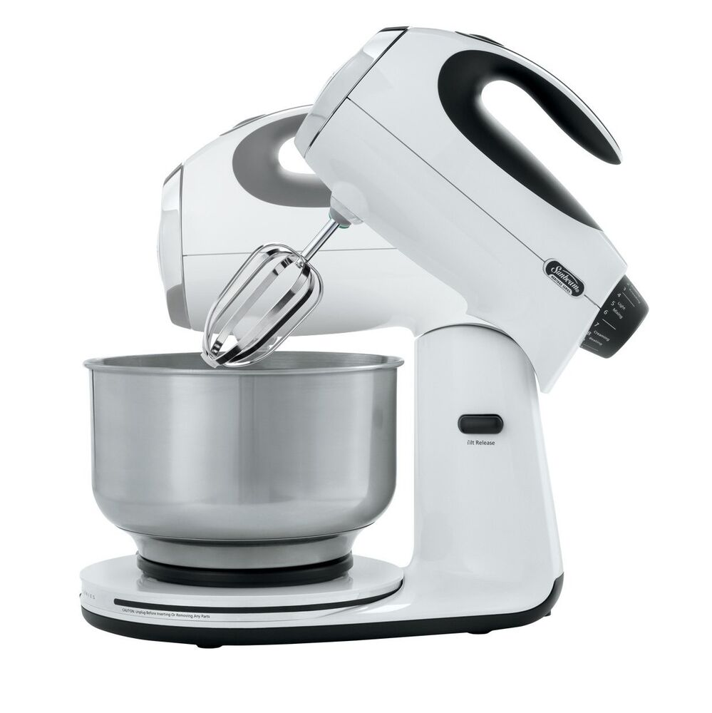 Electric Mixers On Sale ~ New sunbeam fpsbsm white speed electric heritage