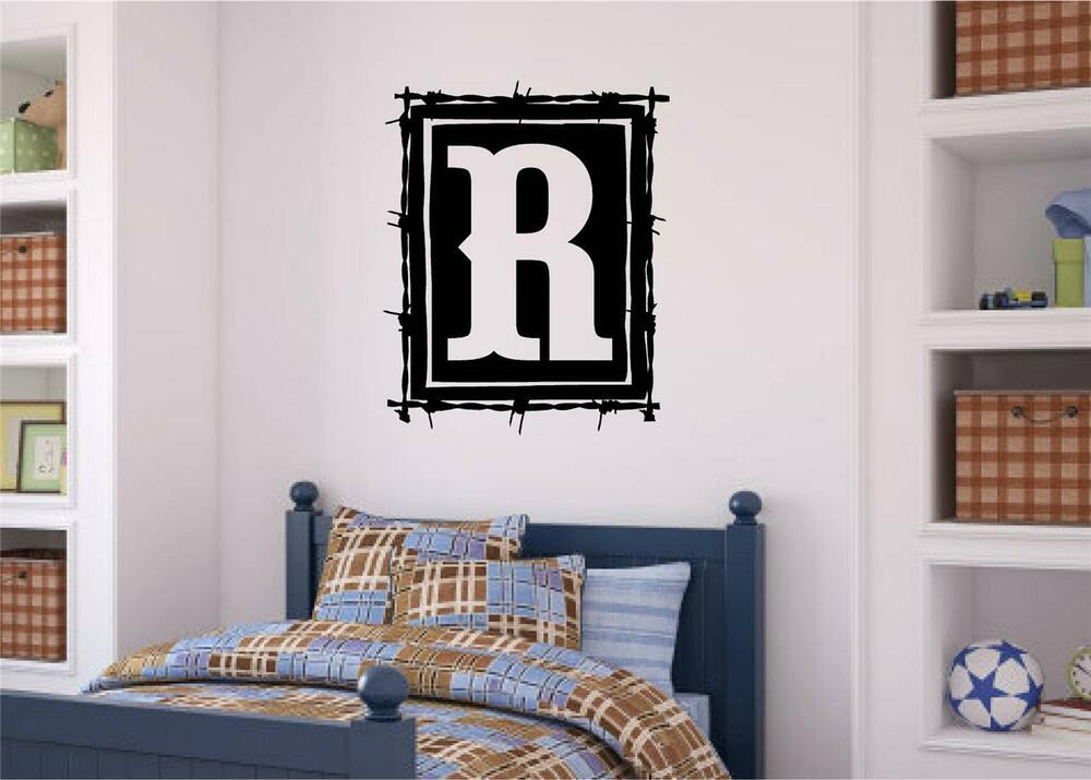 Custom Monogram Western Style Decor Vinyl Decal Wall Art