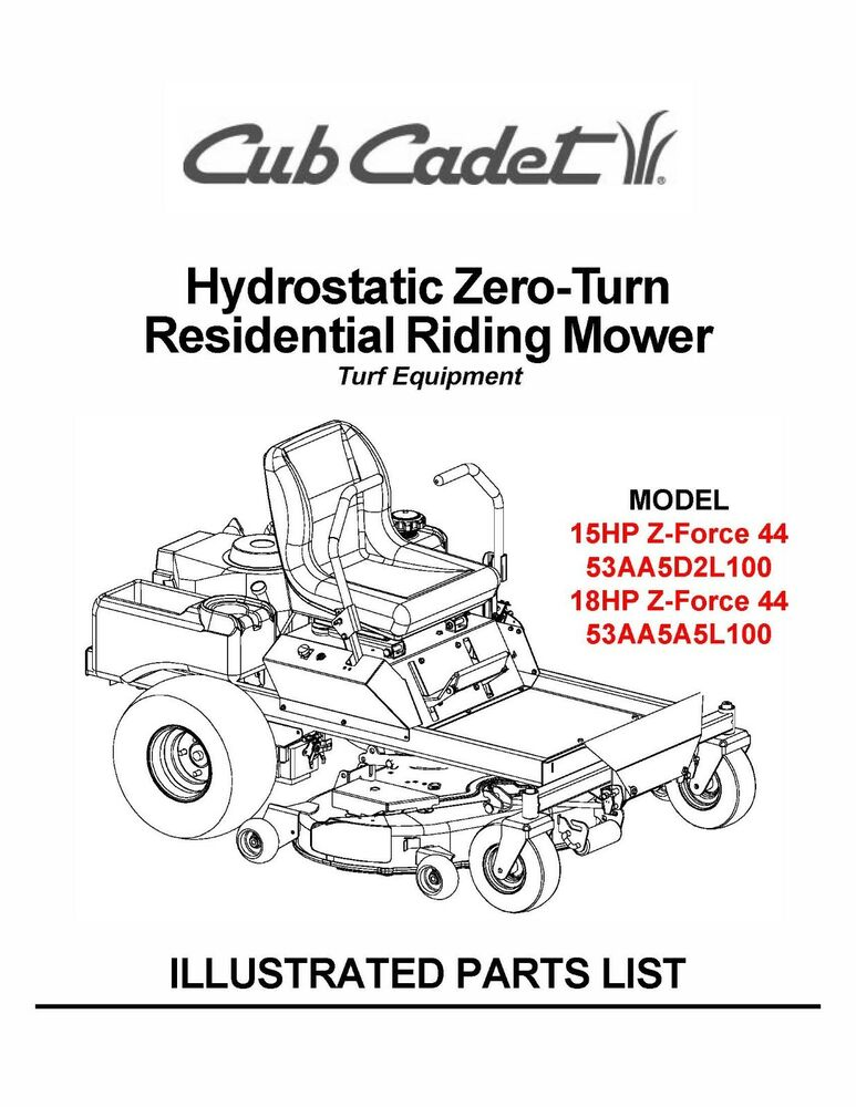 S L on Cub Cadet Z Force 50 Wiring Diagram