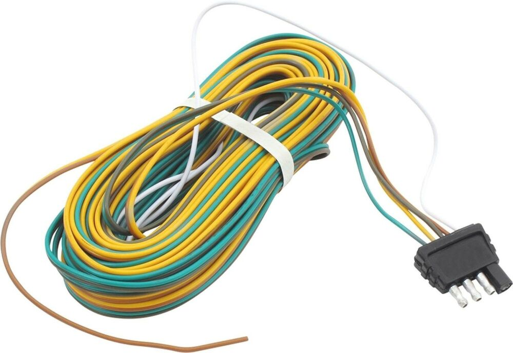 Trailer Wire Harness 25 feet 4 Way Flat Plug 24012 eBay