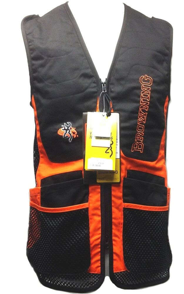 Browning claybuster clay shooting vest ebay for Browning fishing backpack