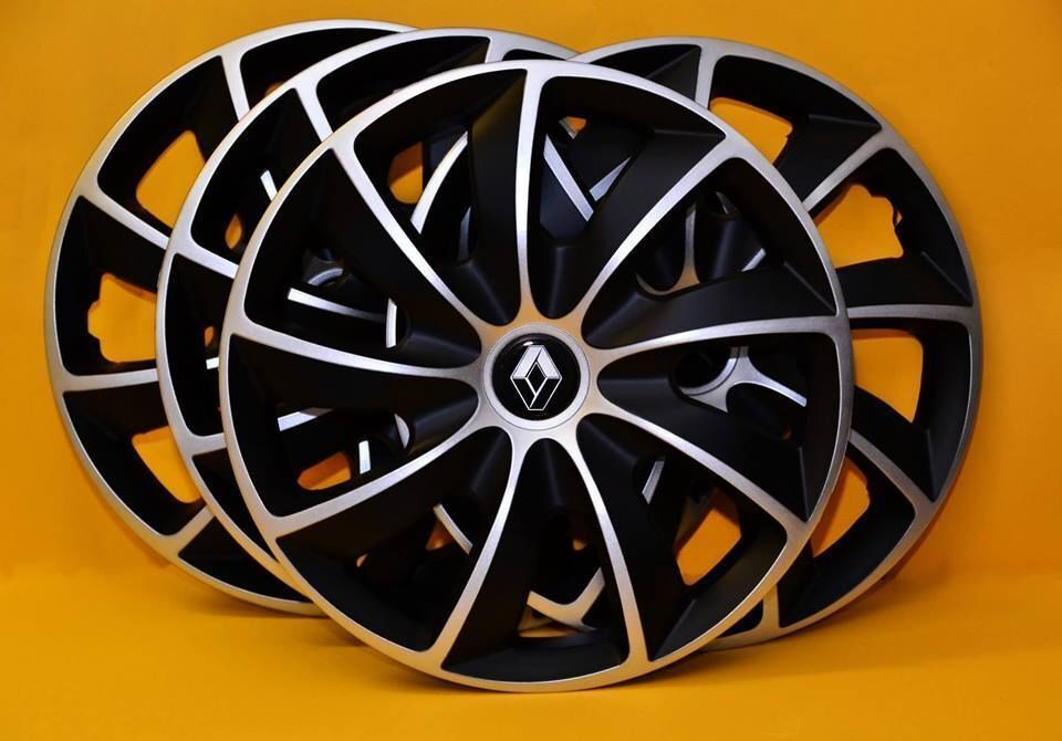4x14 renault clio kangoo set of 4 14 inch wheel trims covers hub caps ebay. Black Bedroom Furniture Sets. Home Design Ideas