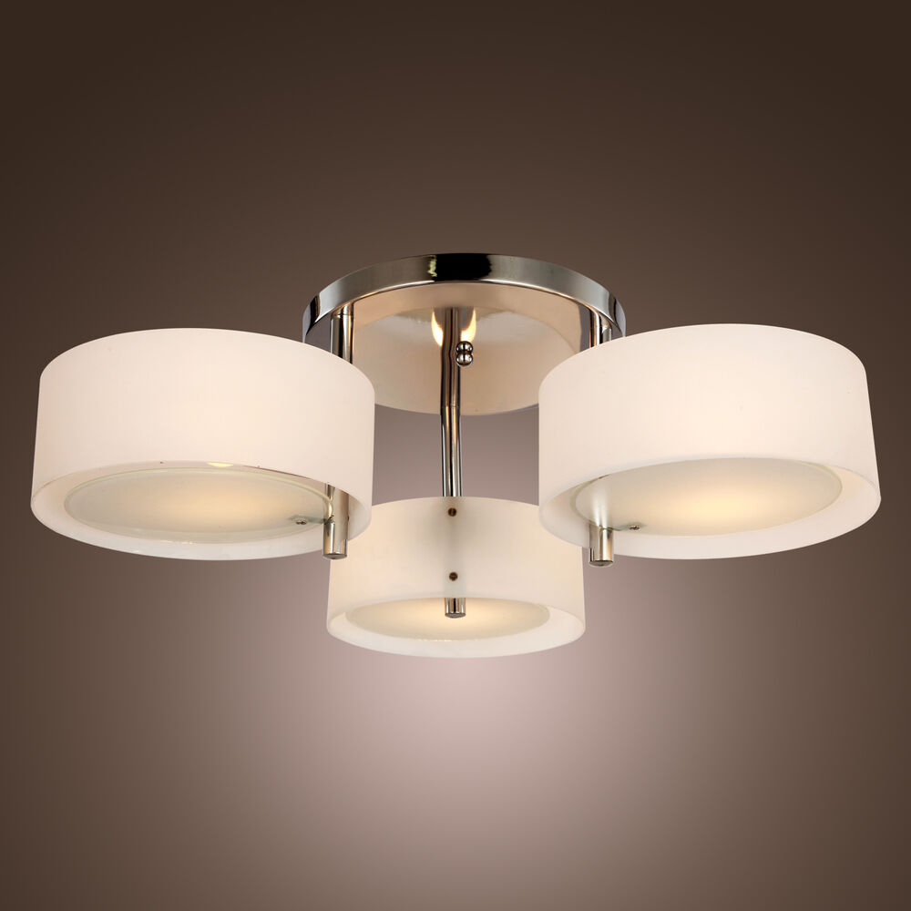 Modern chrome light chandelier pendant ceiling fixture lamp living bedroom ebay - Ceiling lights and chandeliers ...