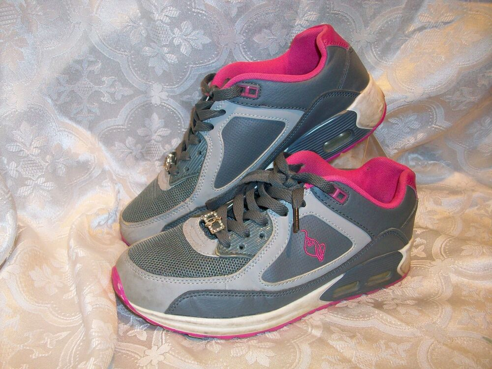 Baby Phat Womens Size 7 Athletic Shoes Grey Pink Ebay