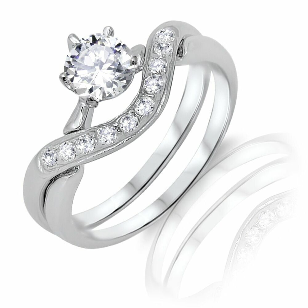 brilliant round cut cz infinity celtic engagement wedding. Black Bedroom Furniture Sets. Home Design Ideas