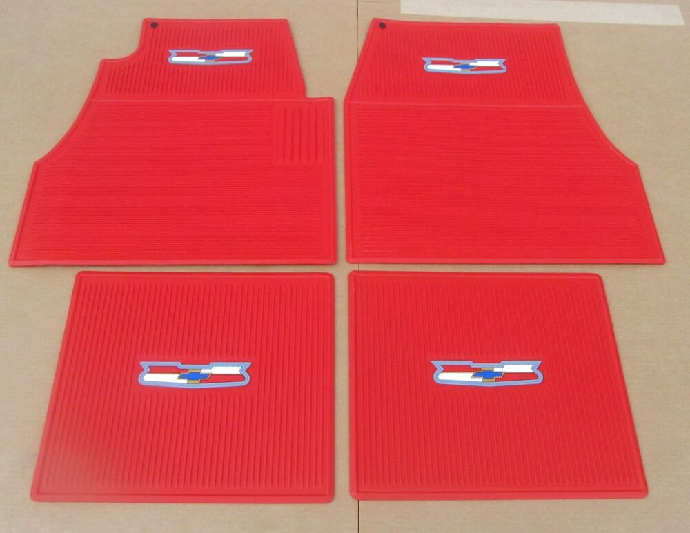 1955 1956 1957 chevy red floor mats new set 4 ebay
