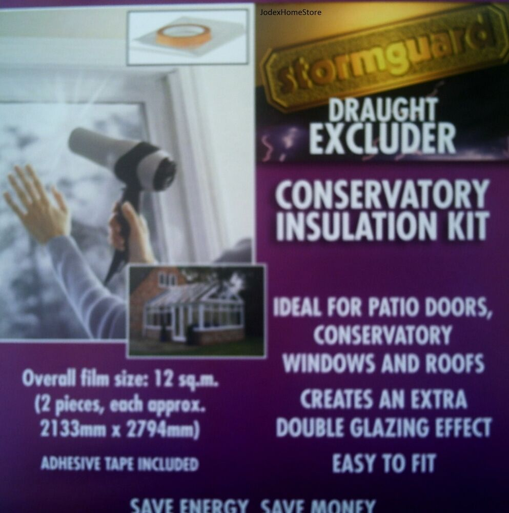 Double Glazing Draught Excluder Insulation Film Kit For Windows