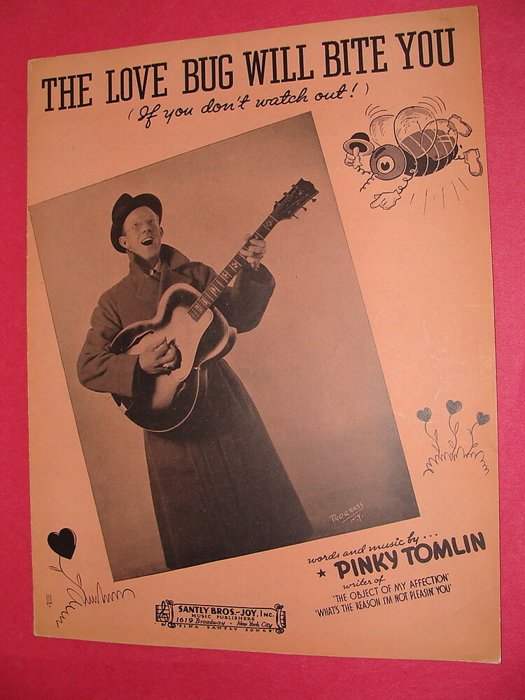 The Love Bug Will Bite You If You Dont Watch Out 1937 Sheet Music