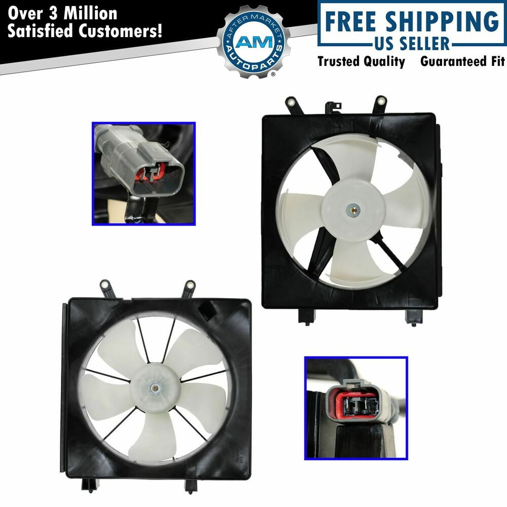 Radiator  U0026 Ac Condenser Cooling Fan Assembly Pair For
