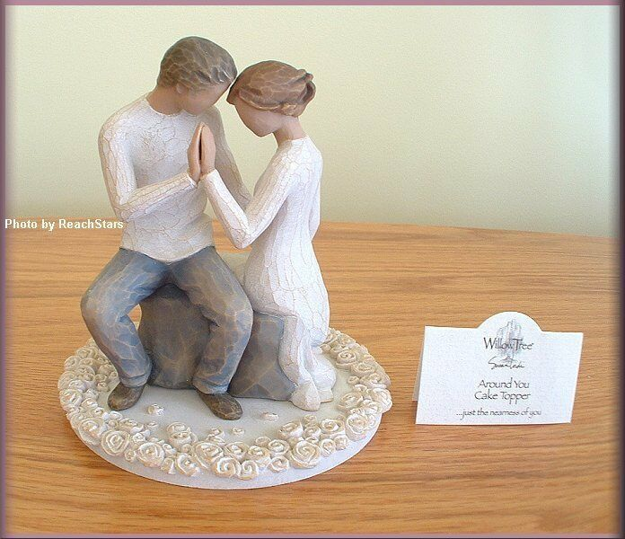 willow tree angel wedding cake topper around you cake topper figure from willow tree 174 27489