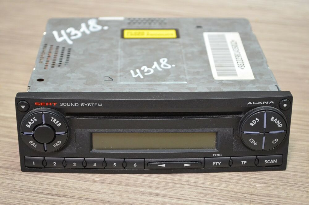 seat ibiza 6l1 cd player radio autoradio 6l0035156 ebay. Black Bedroom Furniture Sets. Home Design Ideas