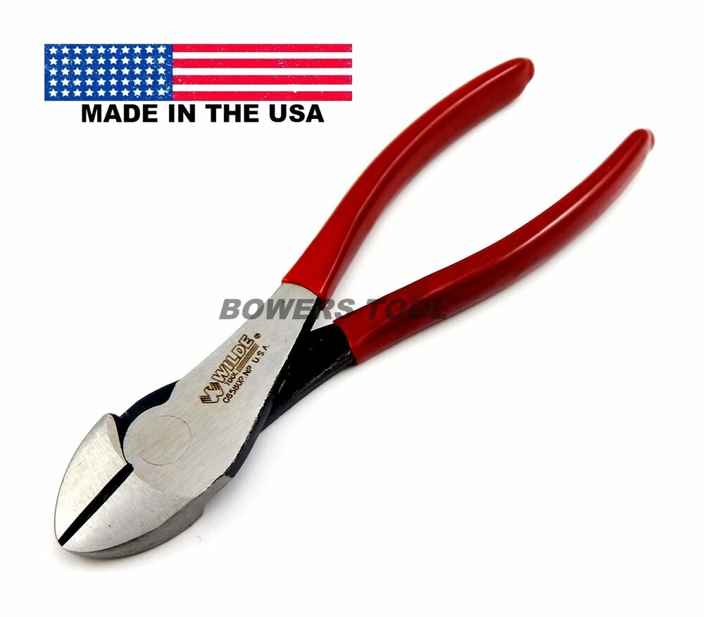 Wilde tool 7 in diagonal cutter pliers solid joint made for Gardening tools made in usa