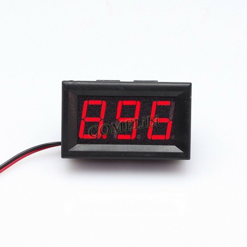 Small Digital Voltmeters Dc : Mini dc v voltmeter led panel digital display volt