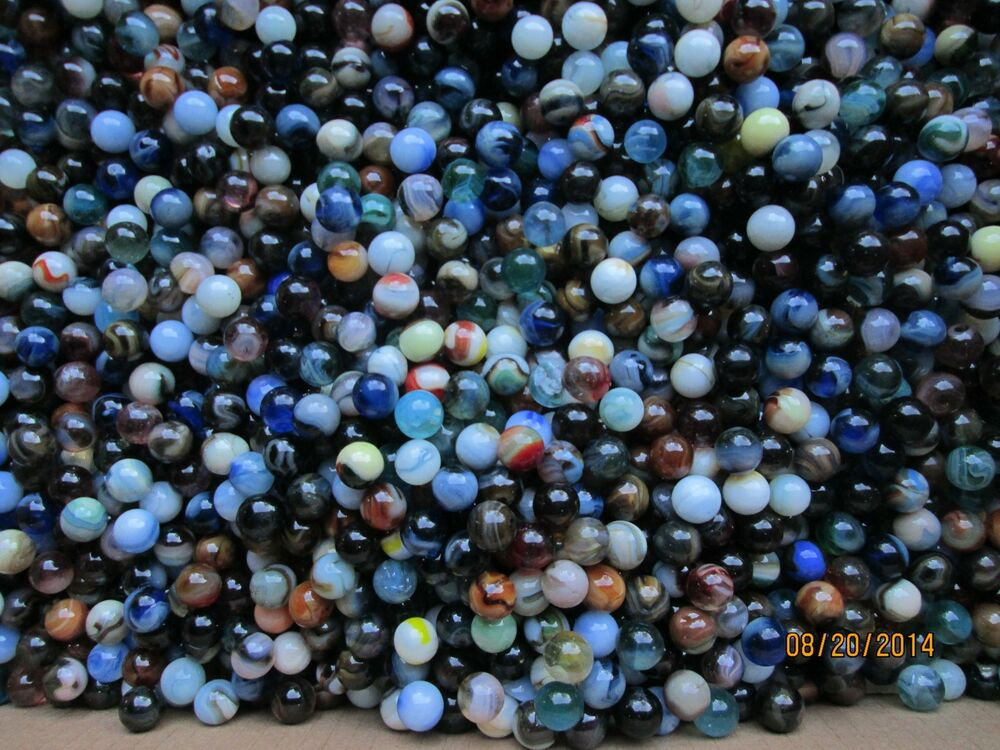 Bulk Colored Marbles : Marble bulk lot quot mixed jabo multi colored marbles