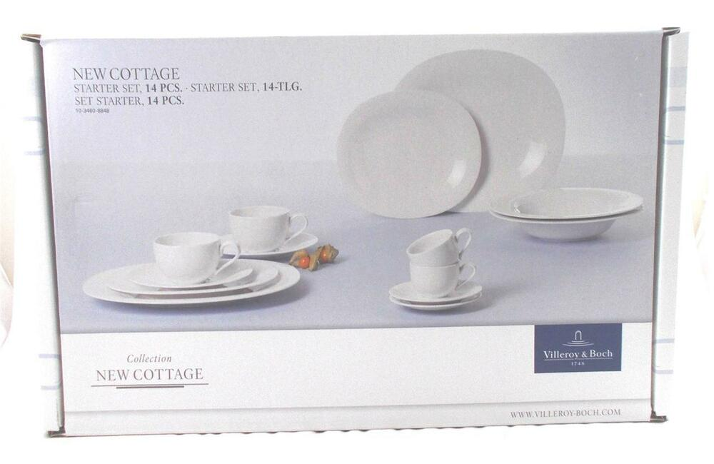 villeroy and boch new cottage starter set 14 pieces new boxed ebay. Black Bedroom Furniture Sets. Home Design Ideas