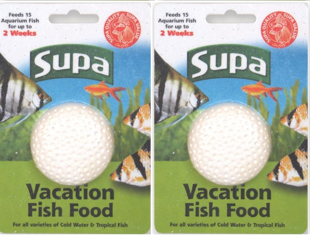 Supa vacation fish food feed 2 week 10 15 fish holiday for How to feed fish