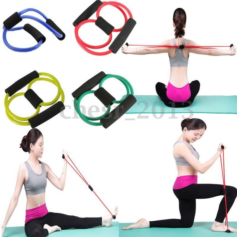 Exercise Stretch Bands Equipment: EQUIPMENT ELASTIC RESISTANCE Bands Tube Workout Exercise