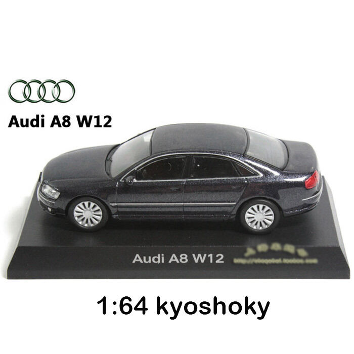 Grey Kyosho 1:64 AUDI A8 W12 Diecast Model Car Mint 1/64