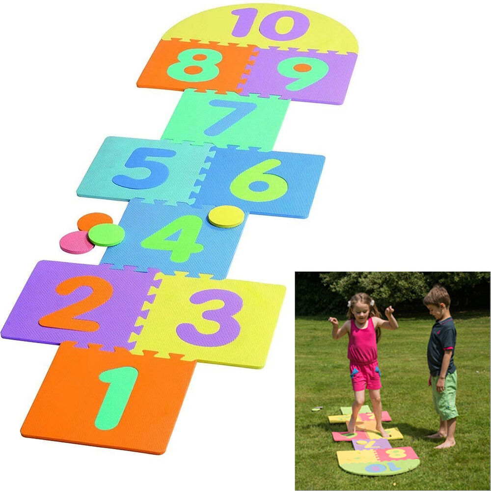 Toys For Games : New kids garden pub hopscotch set scribble toy game