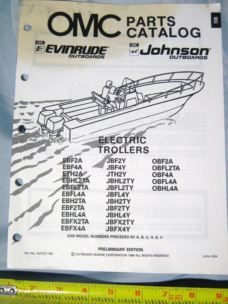 1989 johnson evinrude electric troller outboard boat motor