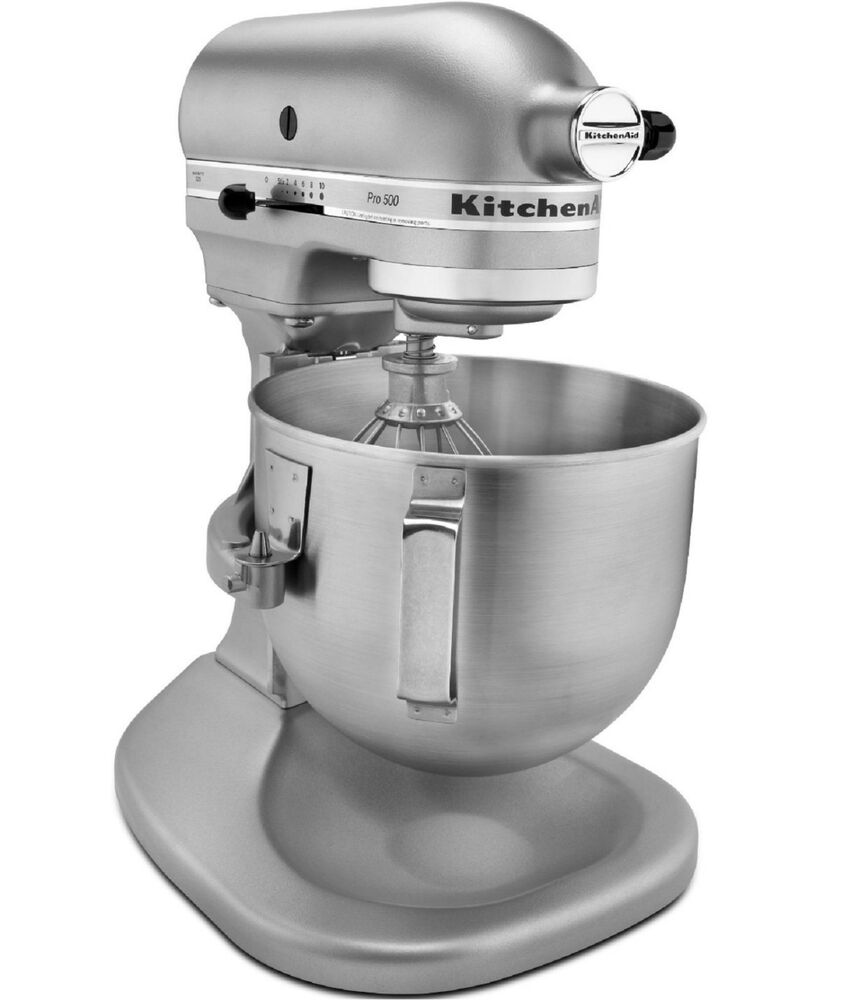 kitchenaid heavy duty pro 500 stand mixer lift rrksm500pssm metal 5 qt silver 883049123066 ebay. Black Bedroom Furniture Sets. Home Design Ideas